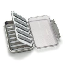 C&F Design Medium 7-Row Waterproof Fly Box with Flip Page and Clear Lid - CF-25577CT