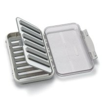 C&F Design Medium 8-Row Waterproof Fly Box with Flip Page and Clear Lid - CF-25688CT