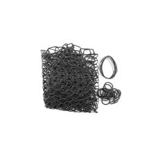 "Fishpond Nomad Replacement Rubber Net Kit - 19"" Black Extra Deep (Boat and El Jefe Nets)"