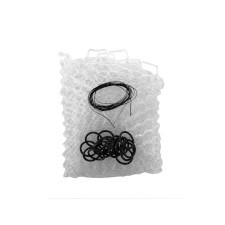 "Fishpond Nomad Replacement Rubber Net Kit - 19"" Clear (Boat and El Jefe Nets)"
